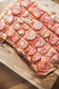 Photo courtesy of Edible DC Magazine. They came to Le Poisson Bleu for a day of cooking including our 🌍 famous flaky puff pastry pizza.